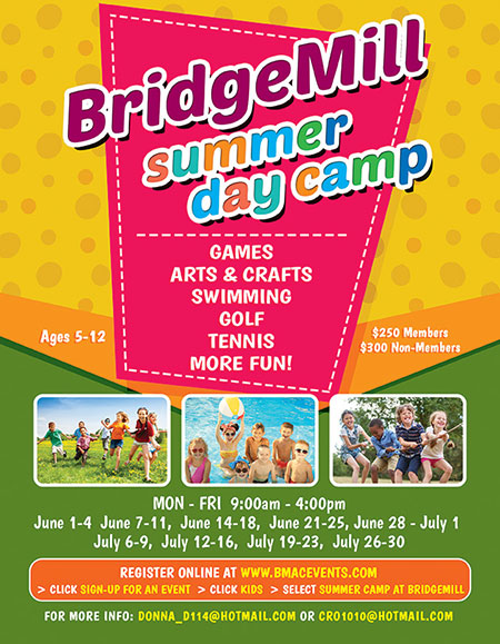 Bridgemill 2021 Summer Camp flyer